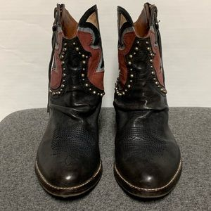 Sam Edelman Shoes - Sam Edelman Shane Black Stud Western Bootie 7.5